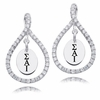 Sigma Alpha Iota White CZ Figure 8 Earrings