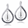 Sigma Delta Tau Black and White Figure 8 Earrings