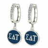 Sigma Delta Tau Hoop Earrings