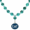 Sigma Delta Tau Turquoise Drop Necklace