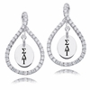 Sigma Delta Tau White CZ Figure 8 Earrings