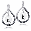 Sigma Kappa Black and White Figure 8 Earrings