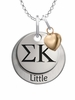 Sigma Kappa LITTLE Necklace with Heart Accent