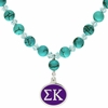 Sigma Kappa Turquoise Drop Necklace