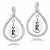 Sigma Kappa White CZ Figure 8 Earrings