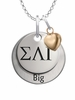 Sigma Lambda Gamma BIG Necklace with Heart Accent