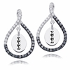 Sigma Sigma Sigma Black and White Figure 8 Earrings