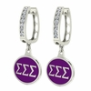 Sigma Sigma Sigma Hoop Earrings