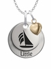 Sigma Sigma Sigma LITTLE Necklace with Heart Accent