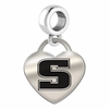 Slippery Rock Engraved Heart Dangle Charm