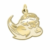Slippery Rock The Rock 14K Yellow Gold Natural Finish Cut Out Logo Charm