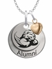 Slippery Rock The Rock Alumni Necklace with Heart Accent