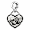 Slippery Rock The Rock Border Heart Dangle Charm
