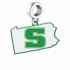 Slippery Rock The Rock Logo Dangle Charm
