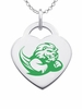 Slippery Rock The Rock Logo Heart Pendant With Color