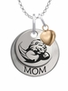 Slippery Rock The Rock MOM Necklace with Heart Charm