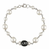 Sorority Tin Cup Pearl Bracelets