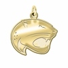 South Alabama Jaguars 14K Yellow Gold Natural Finish Cut Out Logo Charm