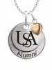 South Alabama Jaguars Alumni Necklace with Heart Accent