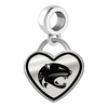 South Alabama Jaguars Border Heart Dangle Charm