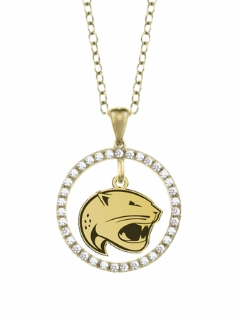 South Alabama Jaguars Gold and Diamond Circle Pendant