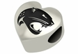 South Alabama Jaguars Heart Shape Bead