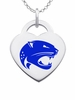 South Alabama Jaguars Logo Heart Pendant With Color