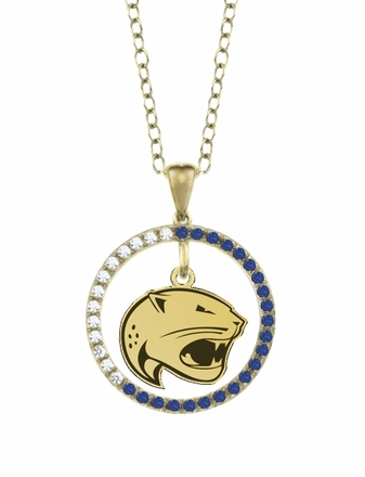 South Alabama Jaguars Sapphire and Diamond Necklace