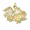 South Carolina Gamecocks 14K Yellow Gold Natural Finish Cut Out Logo Charm
