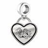 South Carolina Gamecocks Border Heart Dangle Charm