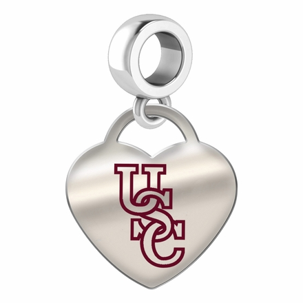 South Carolina Gamecocks Color Heart Dangle