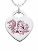 South Carolina Logo Heart Pendant With Color