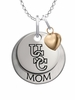 South Carolina Gamecocks MOM Necklace with Heart Charm