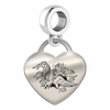 South Carolina Engraved Heart Dangle Charm