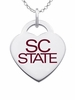 South Carolina State Bulldogs Logo Heart Pendant With Color