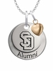 South Dakota Coyotes Alumni Necklace with Heart Accent