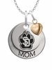 South Dakota Coyotes MOM Necklace with Heart Charm