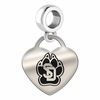 South Dakota Engraved Heart Dangle Charm