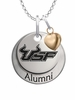 South Florida Bulls Alumni Necklace with Heart Accent