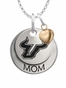 South Florida Bulls MOM Necklace with Heart Charm