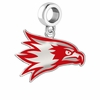 Southeast Missouri RedHawks Silver Logo and School Color Drop Charm