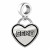 Southeast Missouri State Redhawks Border Heart Dangle Charm