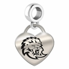 Southeastern Louisiana Engraved Heart Dangle Charm