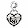 Southeastern Louisiana Lions Border Heart Dangle Charm