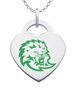 Southeastern Louisiana Lions Logo Heart Pendant With Color