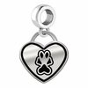 Southern Illinois Salukis Border Heart Dangle Charm