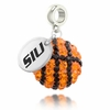 Southern Illinois Salukis Crystal Drop Charm
