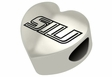 Southern Illinois Salukis Heart Shape Bead