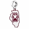 Southern Illinois Salukis Logo Dangle Charm