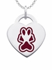 Southern Illinois Salukis Logo Heart Pendant With Color